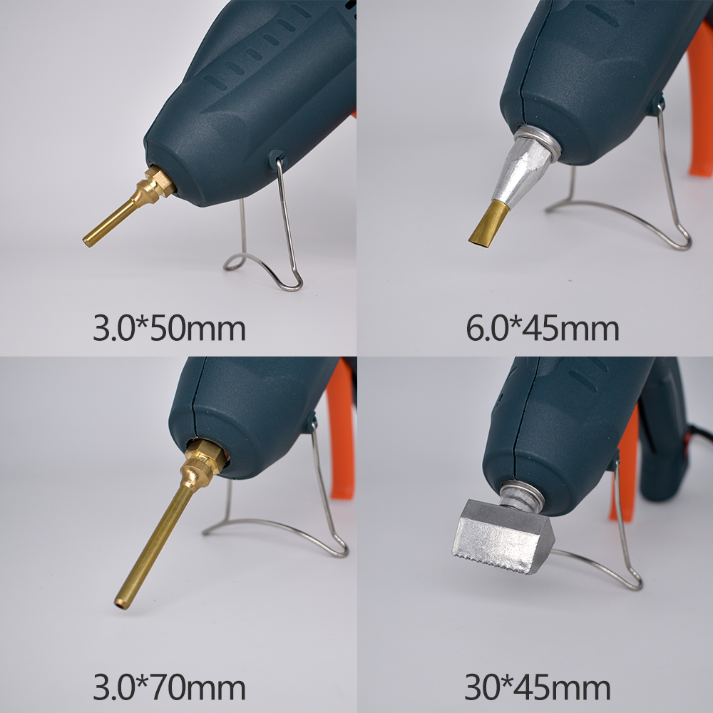 Pistolet à colle thermofusible professionnel avec bâton de colle de 15mm, pistolet à colle industriel à température constante de puissance élevée, bâton de colle de fil de 3M - 5