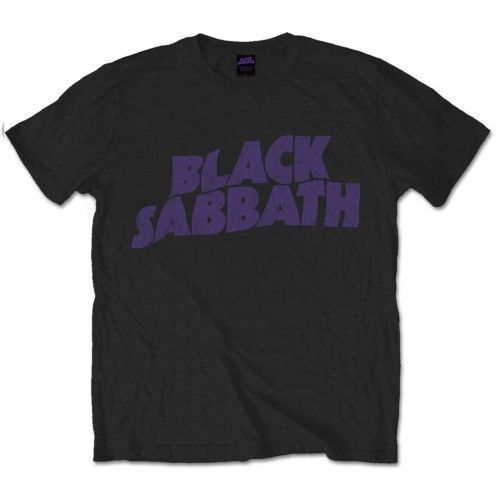 Black Sabbath 'Wavy Logo Vintage' T-Shirt - NEW & OFFICIAL! Hip