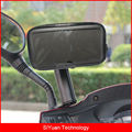 360 Degree Adjustable Motorcycle Motorbike Scooter Rear View Mirror Waterproof Phone Case Mount Holder for 6.3 inch Smart Phones