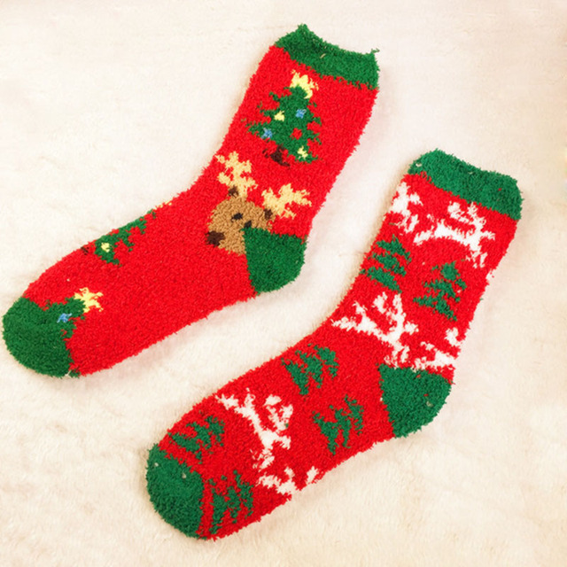 womens christmas stockings 2018 winter new coral velvet short stockings packed for sale6 pairs - Velvet Christmas Stockings
