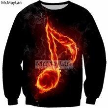 Cool Music Symbol Fire Flame 3D Print Sweatshirt Men/women Hiphop Streetwear Pullovers Hoodies Boys Hipster Black Top Clothes music guitar burning flame 3d print hoodies women men hipster hip hop streetwear pullovers sweatshirts 2018 mens tops clothes