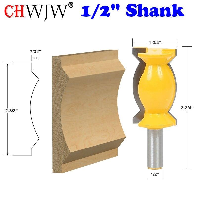 1pc Crown Molding Router Bit -1/2 Shank Tenon Cutter for Woodworking Tools 1pc 1 2 shank crown molding router bit extender tenon cutter for woodworking tools