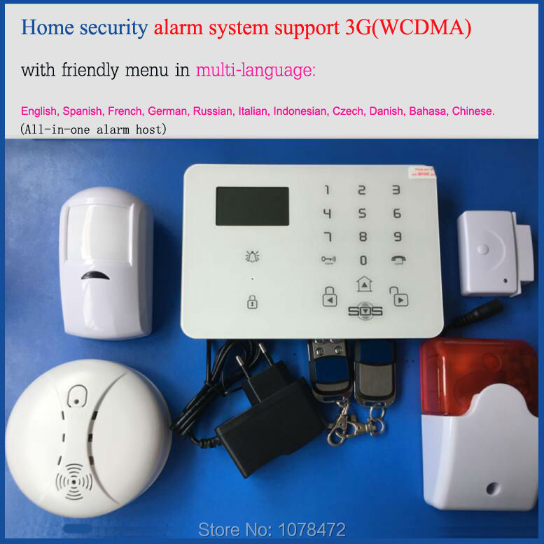 Android&IOS APP 3G Alarm system with operation menu in 10 languages,NEW Stable WCDMA security system+strobe siren,fire alarm kit plagiarism detection system for afghanistan s national languages