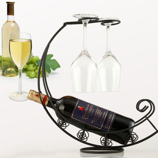 Creative Metal Wine Rack Hanging Wine Glass Holder Bar Stand Bracket Display Stand Bracket Decor