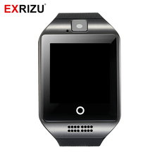 EXRIZU Smartwatch SIM Card & Bluetooth Smart Watch Phone Clock Fitness Pedometer Music Player Device for Android iOS iPhone Q18