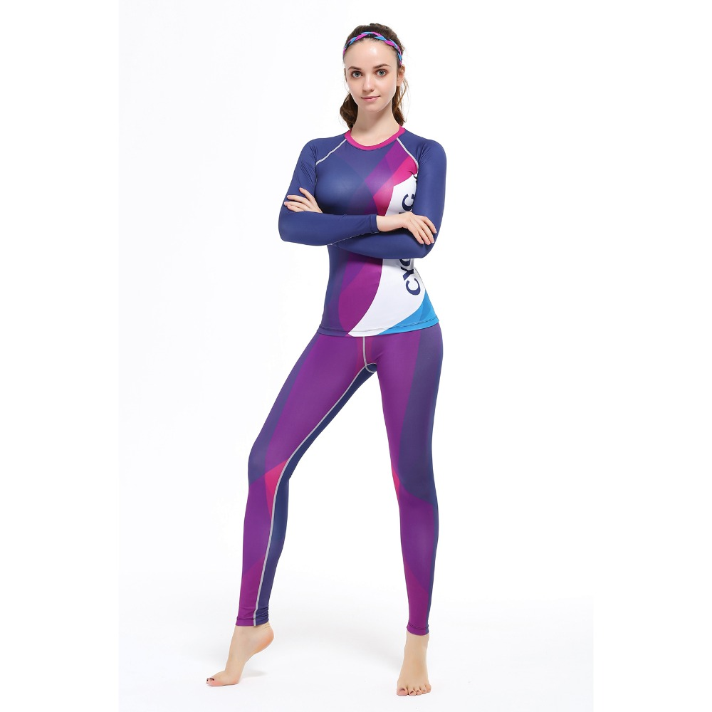 Quick-drying Gym sports suits Breathable Suit Compression Top quality fitness women yoga Sets two pieces running Sports shirt unicalling denim