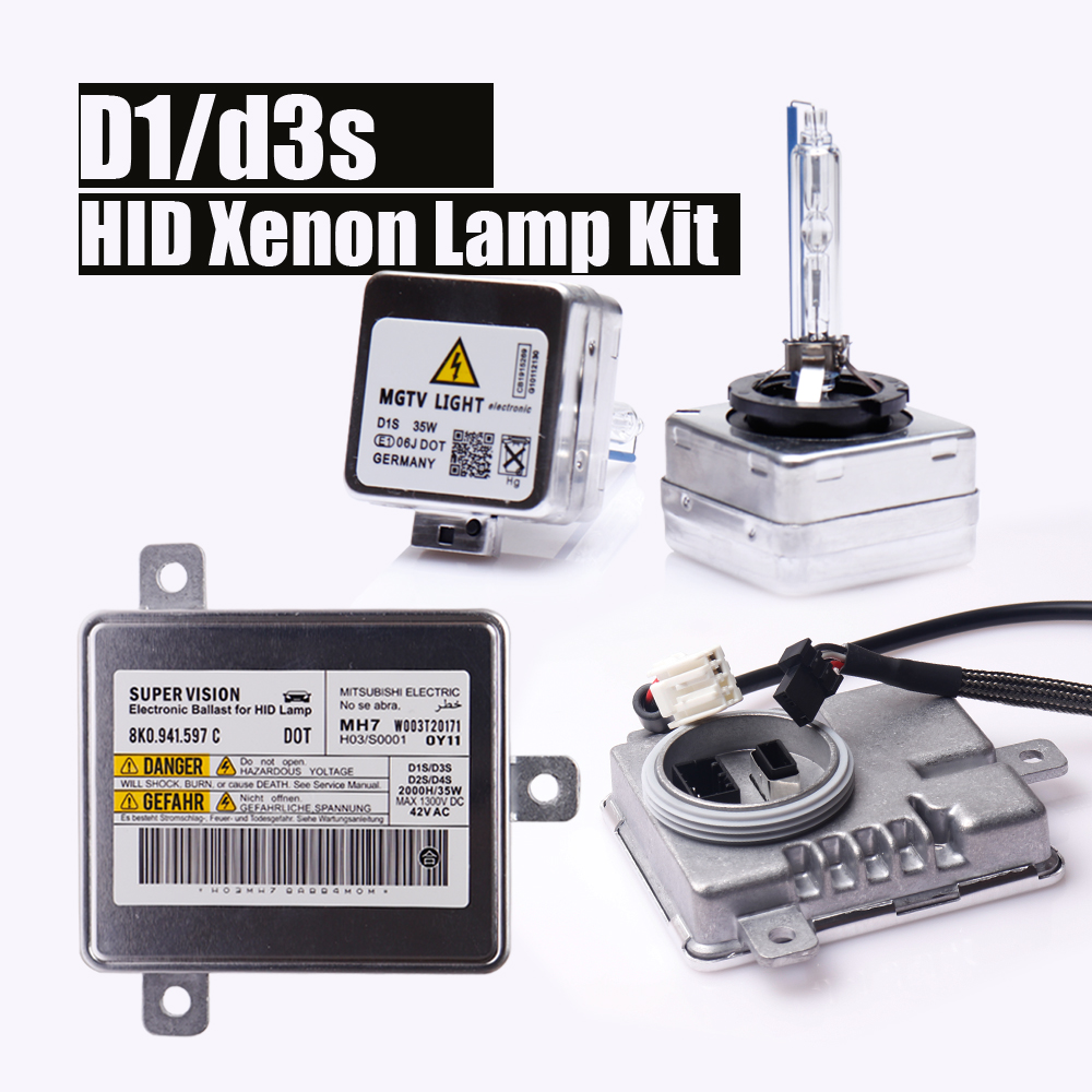 MGTV LIGHT <font><b>35W</b></font> <font><b>D1S</b></font> <font><b>Xenon</b></font> HID Kit D3S Canbus Ballast Kit HID Lights D3R 4300K 5000K D1R 6000K 8000K hid <font><b>xenon</b></font> bulb Headlight image