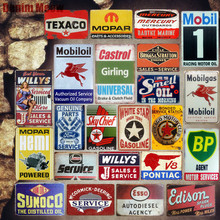 Motor&Oil Service Plaque Vintage Metal Tin Signs Home Bar Garage Decorative Plates Gasline Wall Stickers Art Poster MN22