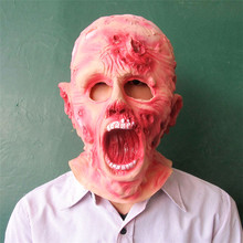 Super Halloween Scary Bloody Zombie Mask Melting Face Adult Latex Costume Walking Dead Halloween Scary Face Full Head Mask Toys
