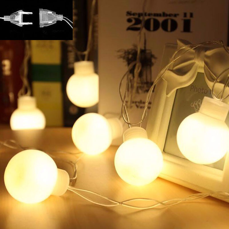 Attractive Novelty Outdoor Lights Part - 3: ... 5 Meter 20leds Novelty Outdoor Lighting 5cm Big Size Led Ball String  Lamps Lights Fairy ...