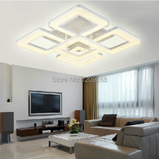 Vijf heads120w led plafond lamp creatieve woonkamer lamp for Woonkamer lamp modern