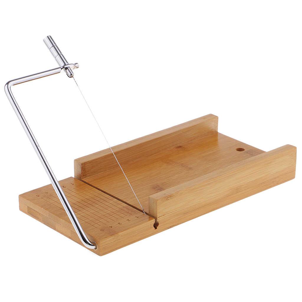 Drewniane mydło Cutter narzędzia do cięcia bochenek formy mydło z krajalnica do 1 KG wyczyść topi się i wlać mydło baza dla DIY świeca mydło podejmowania