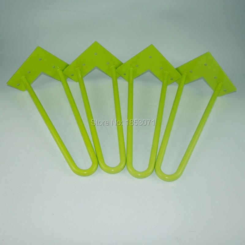 New design 12inch(305mm) height  2Rod Hairpin Legs Set of 4 (green )12mm Dia. Cold Steel DIY Table Legs икона янтарная богородица скоропослушница кян 2 305