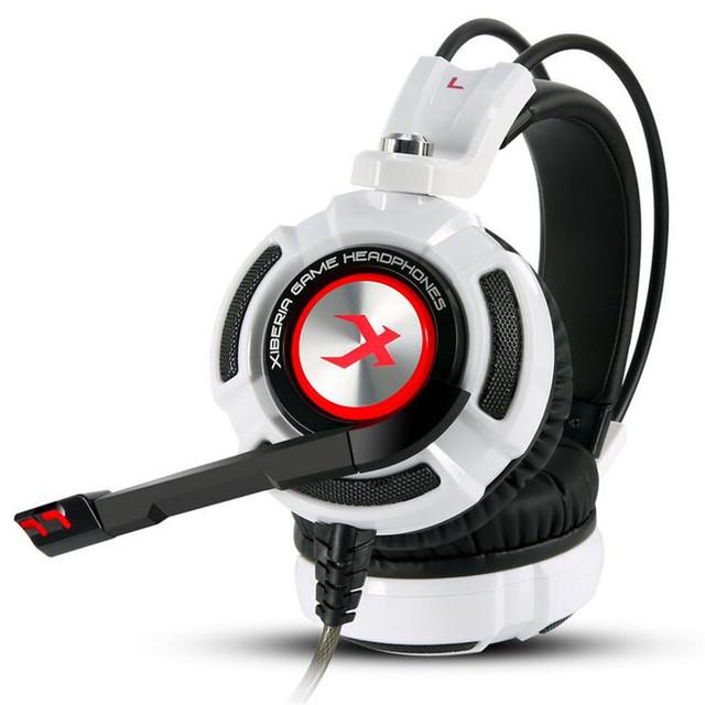Xiberia K3 Gaming Auriculares Sobre la Oreja los Auriculares Estéreo 7.1 Auricular Vibración Glow Diadema Auricular Con Micrófono Para Ordenador Gamer