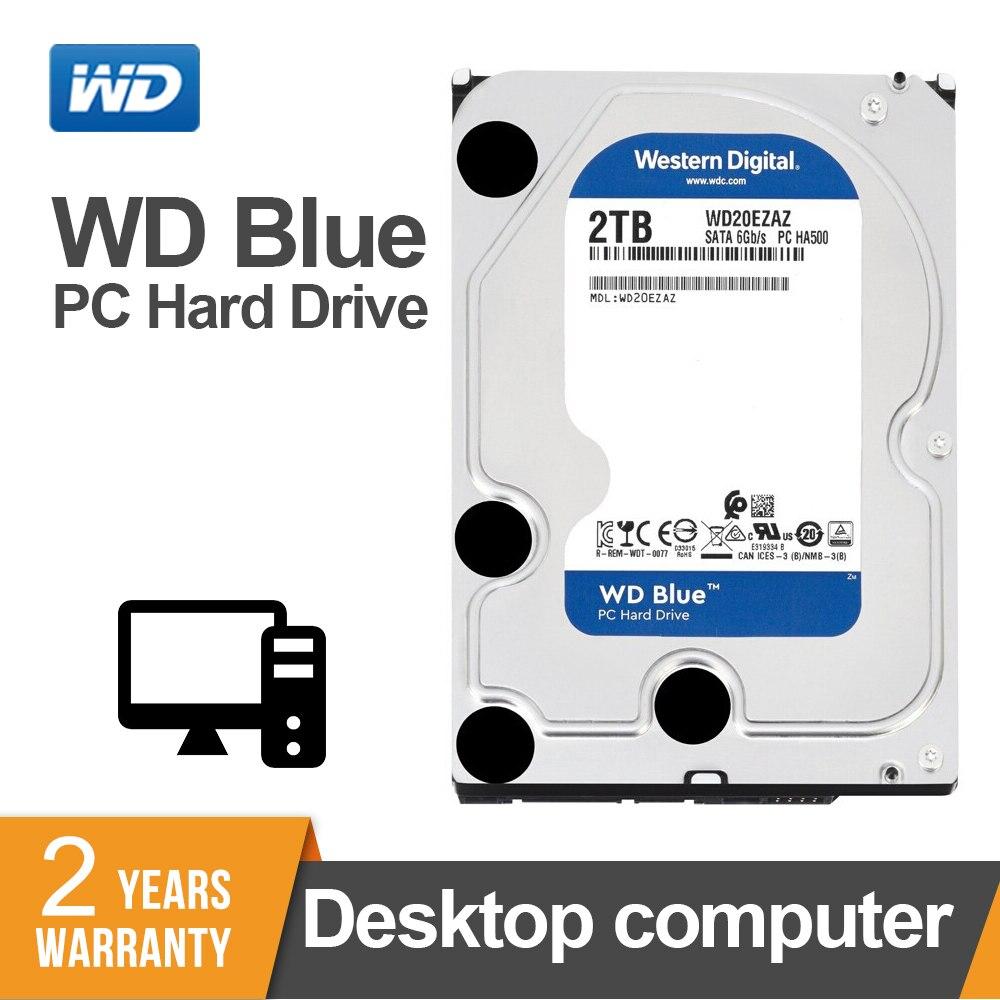 WD Hard-Drive Disk Computer-Wd20ezrz Internal BLUE HDD Desktop Sata-Iii 2000GB 5400 RPM