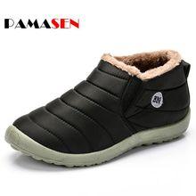 Nouveau Unisexe Cheville Bottes Pour Hommes Bottes D'hiver Chaussures Bottes de Neige Coton À L'intérieur un Fond Antidérapant Garder Au Chaud Étanche Couple Chaussures