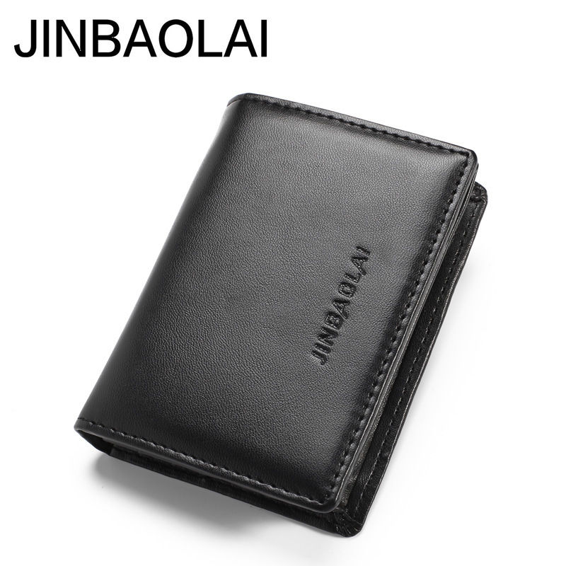 Men Male Fashion Casual PU Leather Credit Bank ID Card Case Holder Business Card Holder Teens Wallets And Purse Hot Sale