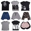 2017 Nueva Moda Nununu Niños Niñas Harem Pantalones Cortos Niños Larga de Niño de la Marca de Impresión Camiseta Pantalones Infantiles vestido infantil
