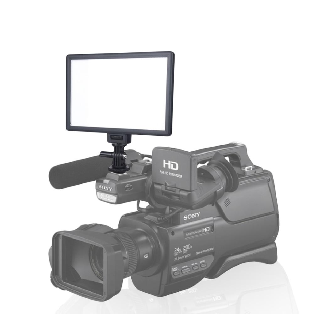 Viltrox L116T LCD Affichage Bi-Couleur et Dimmable Mince DSLR Vidéo LED Lumière + Batterie + Chargeur pour Canon nikon Caméra DV Caméscope - 6