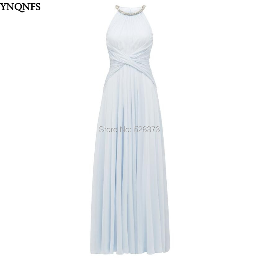Ynqnfs Bd82 Real Pictures Wedding Guest Dress Chiffon Ruched Waist