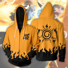 37c2a9fdd0 Japan Anime Hokage Naruto Costumes Uzumaki Naruto Sweatshirts Cosplay 3D printing  jacket long-sleeved zipper