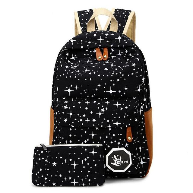 8bc3b867b3 Luggage Bags Fashion Star Women Men Canvas Backpack Schoolbags School Bag  For girl Boy Teenagers Casual