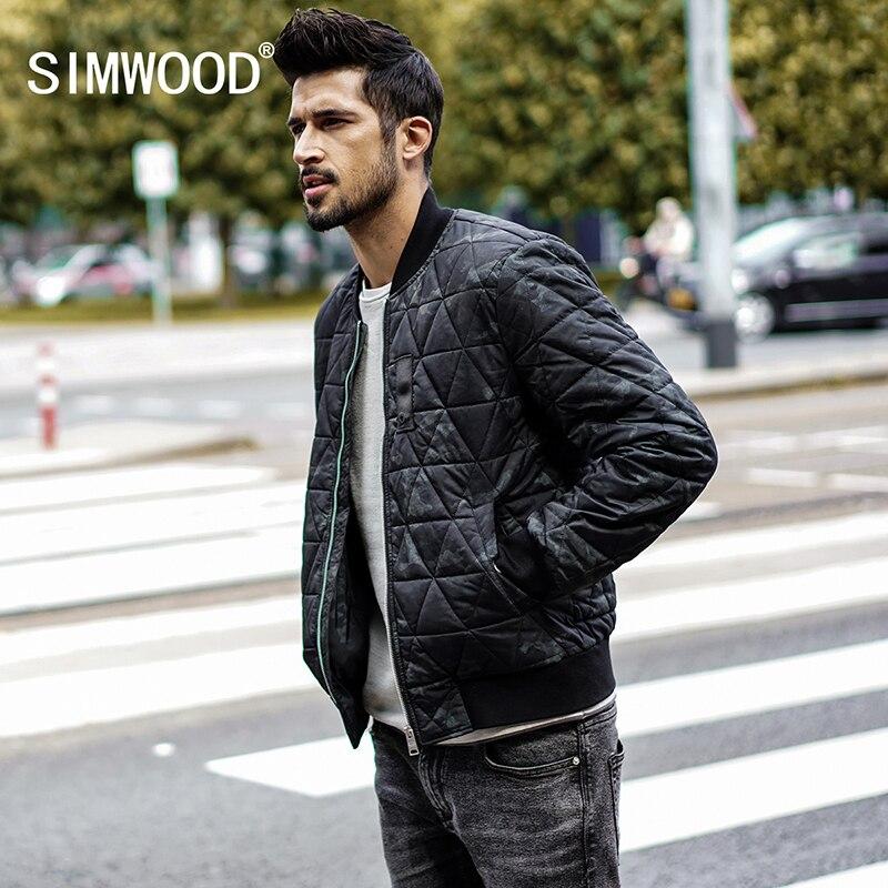 SIMWOOD модный бренд 2018 куртка-пилот Для мужчин зимняя куртка парка Для мужчин пальто уличной военный летчик куртка мужской MD017004