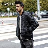 SIMWOOD Fashion Brand 2018 Bomber Jacket Men Winter Jacket Parka Men Coats Streetwear Military Pilot Jacket