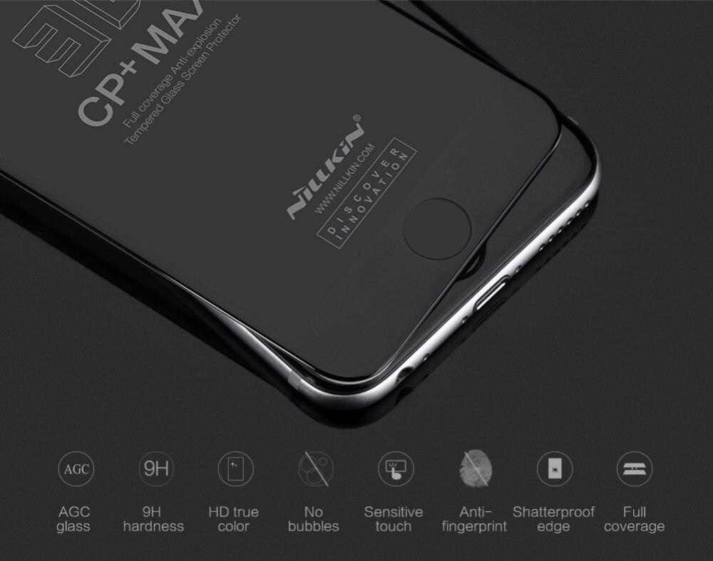bilder für Nillkin erstaunliche 3d displayschutzfolie cp + max anti-explosion ausgeglichenes glas-schirm-schutz für iphone 6 6 s displayschutzfolie 3d