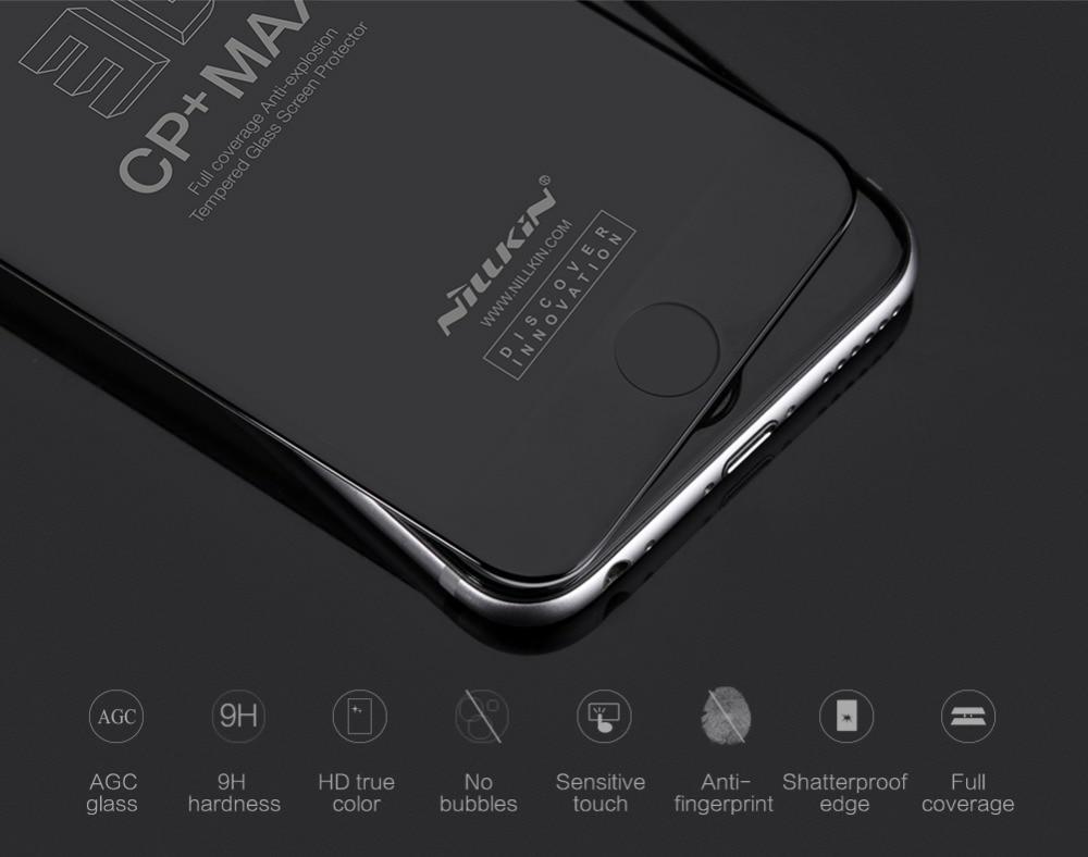 imágenes para Protector de pantalla nillkin increíble 3d cp + max anti-explosión de cristal templado protector de pantalla para iphone 6 6 s protector de pantalla 3d