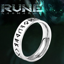 KLDY Viking Rune Rings for women men stainless steel Simple Wedding Jewelry Lover gift Retro Style Dropshipping