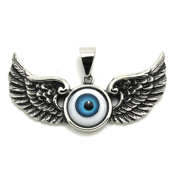 Evil eye ball with eagle wing pendant 316 stainless steel cool evil eye ball with eagle wing pendant 316 stainless steel cool fashion sliver wholesale eagle eyeball aloadofball Choice Image