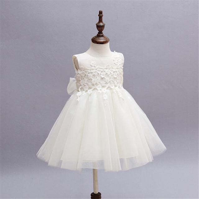 Vestidos de bautizo de la niña kids girls wedding dress mano beading party dress tutu dress infantil niña bautismo dress