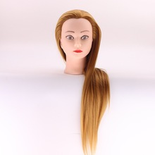New Arrival hairdressing doll heads good quality female cosmetology mannequin head with golden hair