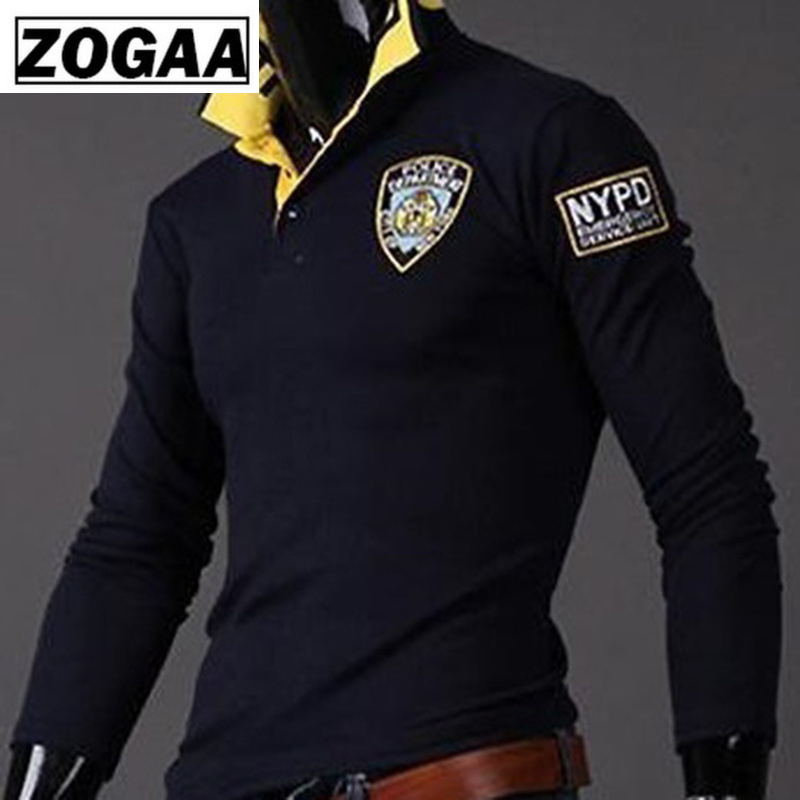 Zogaa 2018 Hot Sale Men Polo Shirt Turn-down Collar Mens Polo Shirts Men Fashion Men's Thin Casual Slim Long Sleeved Polo Shirts