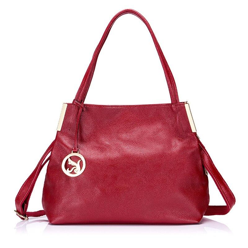 Women Genuine Leather Handbags Famous Brand Tote Bag Handbag Female Messenger Crossbody Bag For Women Solid stylish women s crossbody bag with solid