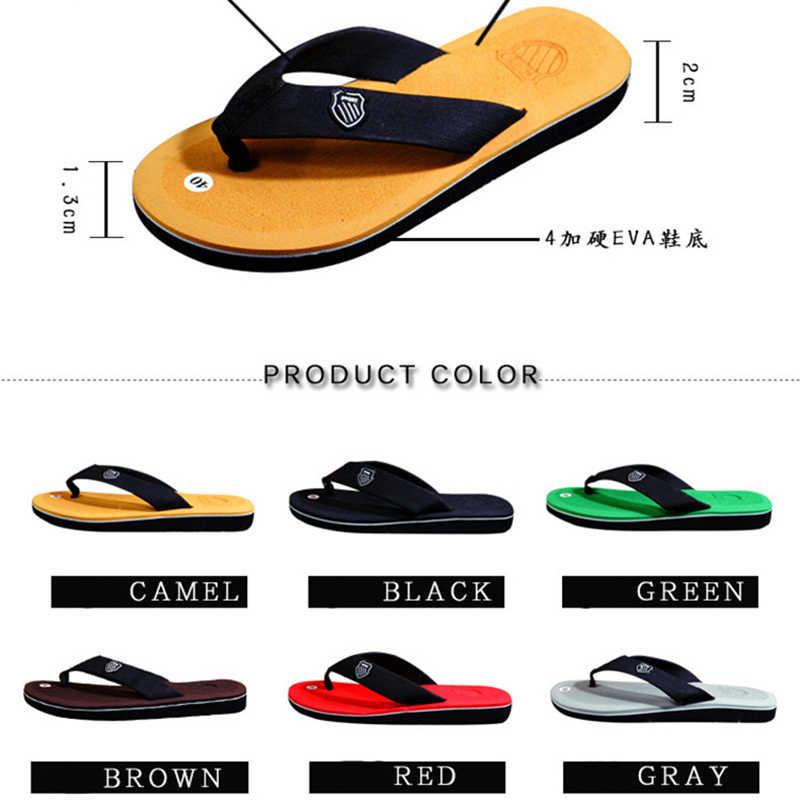 รองเท้าแตะชาย 2019 รองเท้าแตะใหม่ผู้ชายรองเท้าฤดูร้อนรองเท้าผู้ชายสไตล์อังกฤษ Flip Flop Cork รองเท้าแตะรองเท้าแตะชาย Sandalias Hombre 40-44