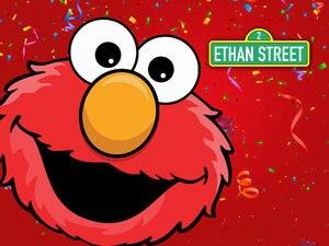 Image 2 - YH030 виниловый красный фон с Элмо для первого дня рождения на заказ фотостудия фон Улица Сезам 7x5ft