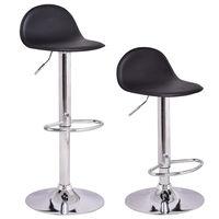 Giantex Set Of 2Pcs Swivel Bar Stools Modern Adjustable Height Diner Seat Chairs Home Bar Furniture