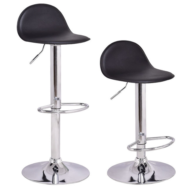 Attirant Giantex Set Of 2Pcs Swivel Bar Stools Modern Adjustable Height Diner Seat  Chairs Home Bar Furniture