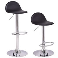 Giantex Set Of 2Pcs Swivel Bar Stools Modern Adjustable Height Diner Seat Chairs Home Bar Furniture