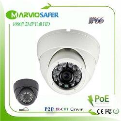 H.265/H.264 2MP 1080 P o rozdzielczości 2 megapikseli Full HD IPCam kopuła IR Night Vision adresu IP sieci KAMERA TELEWIZJI PRZEMYSŁOWEJ kamera IP POE opcjonalnie onvif RTSP