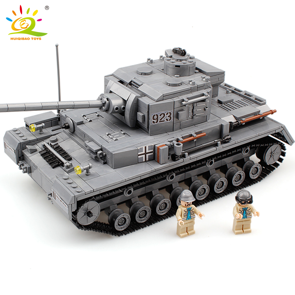 Military War Tank 3D Model PZKPFW II Building Blocks Sets Compatible Legoed army tank DIY Educational Christmas Toy For Children