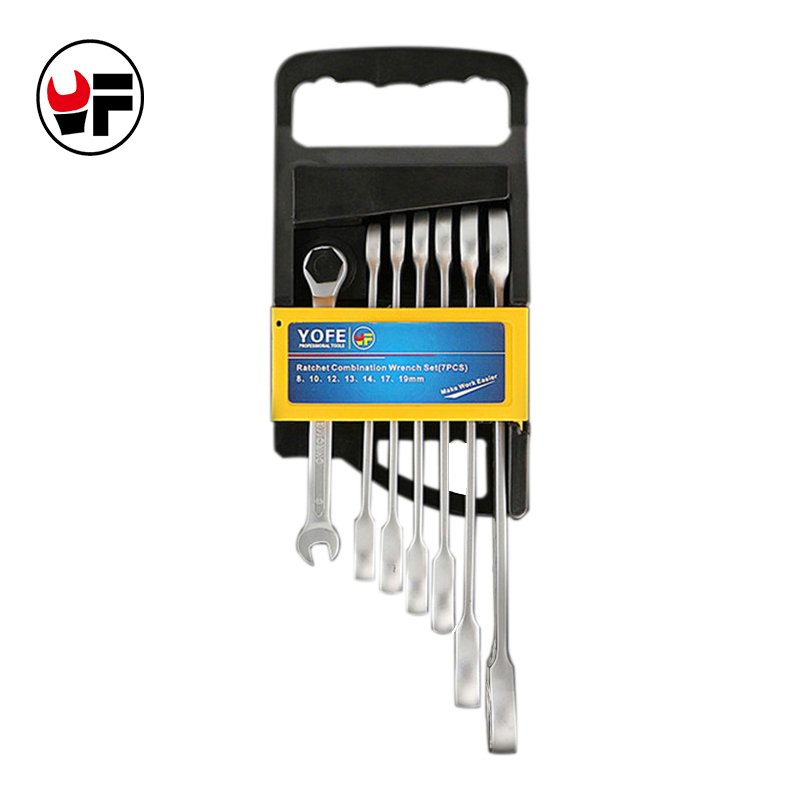 7pcs The Key Ratchet Wrench Combination  Auto Repair Hand Set Tools For Cars Kit Automotive Tools Alet Seti Herramientas 7pcs the key ratchet combination wrench set to repair auto repair hand tool a set of keys 8 10 12 13 15 17 19chave catracaad2012