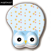 лучшая цена Cute Anime Owl 3D Mouse Pad Ergonomic Gel Mouse Pad With Wrist Support Mouse Mat For PC Laptop Girls Gift