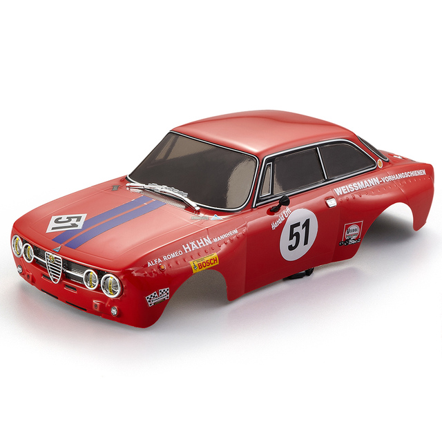 US $49 99 30% OFF|RC Car Parts 48251 257mm for Alfa Romeo 2000 GTAm  Finished Body Red Frame 1:10 Electric Touring RC Drift Racing Car DIY-in  Parts &