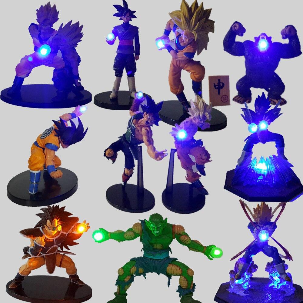 Dragon Ball Z Luminaria FÜHRTE Nachtlicht Goku Schwarz Vegeta Gohan Kamehameha Anime Dragon Ball Z Dekorative Led-beleuchtung