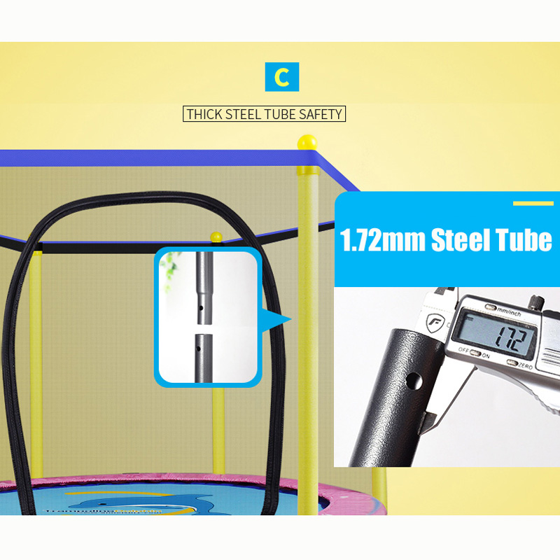 55 дюймов круглый детский мини-батут корпуса подкладка-сетка Rebounder прогулок на свежем воздухе