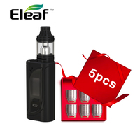 Original Eleaf IKonn 220 Kit with Ello Atomizer 4ml Capacity & 5pcs Eleaf HW1 Single Cylinder Head Coil 0.2ohm Vape E cigarettes