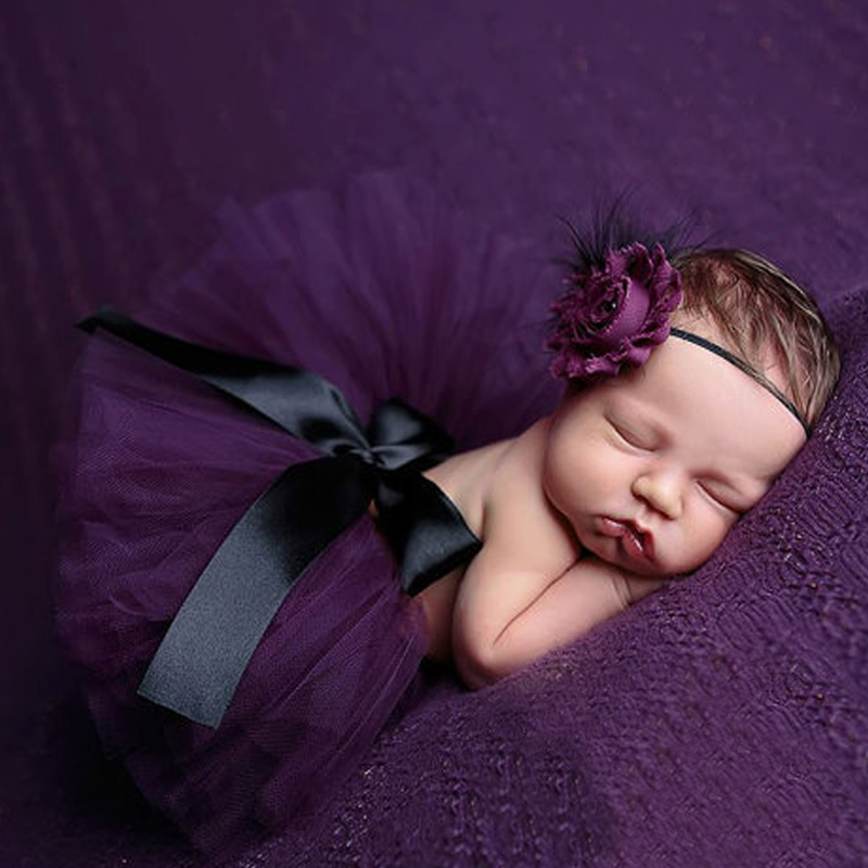 Fashion !! 2017 New Style Newborn Baby Girls Clothes Set Newborn Baby Photography Props Kids tutu For Girls Skirt And Headwear